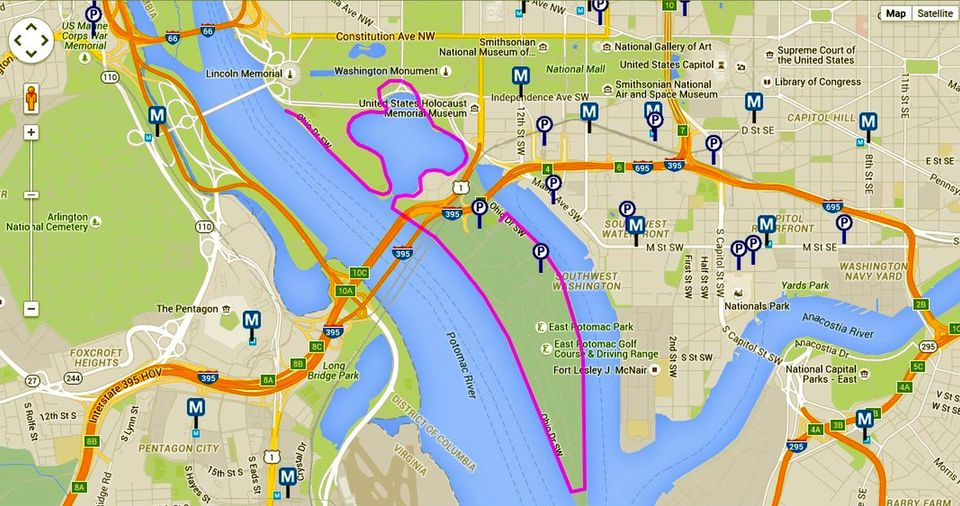 Cherry Blossoms Maps For Washington Dc