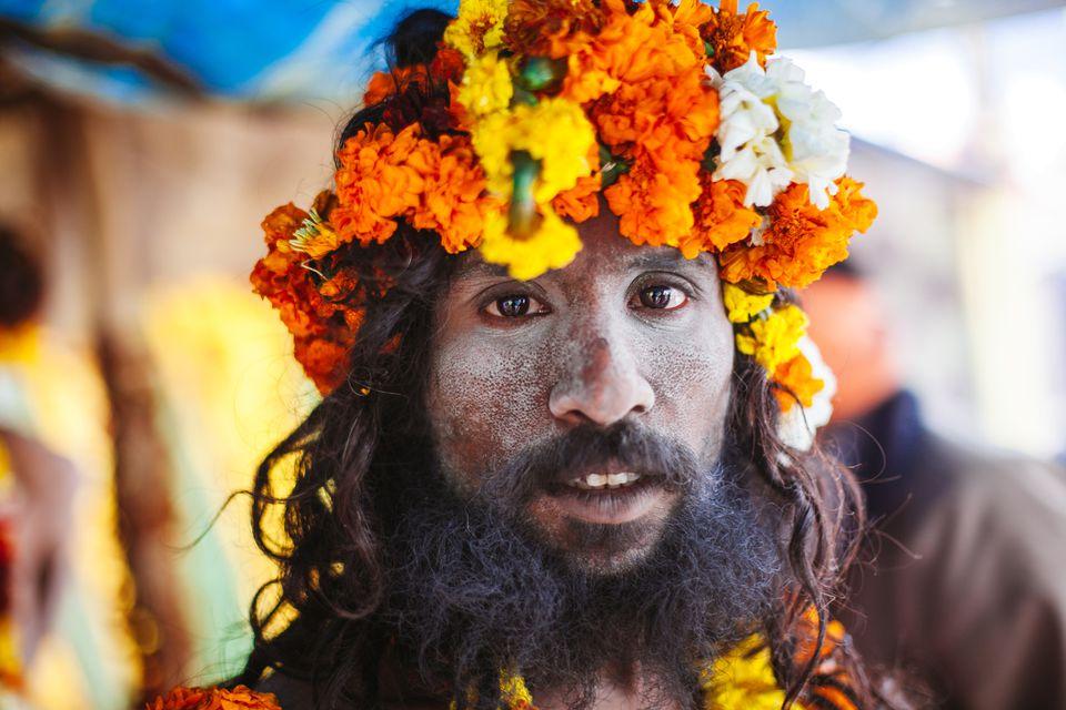 Sadhu at the Kumbh Mela.