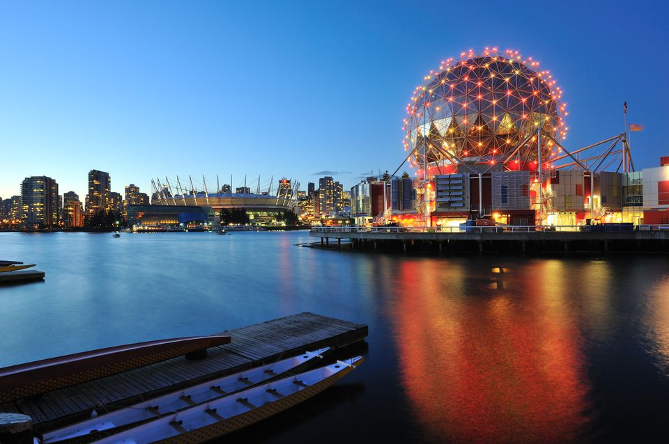 Vancouver Science World on Halloween