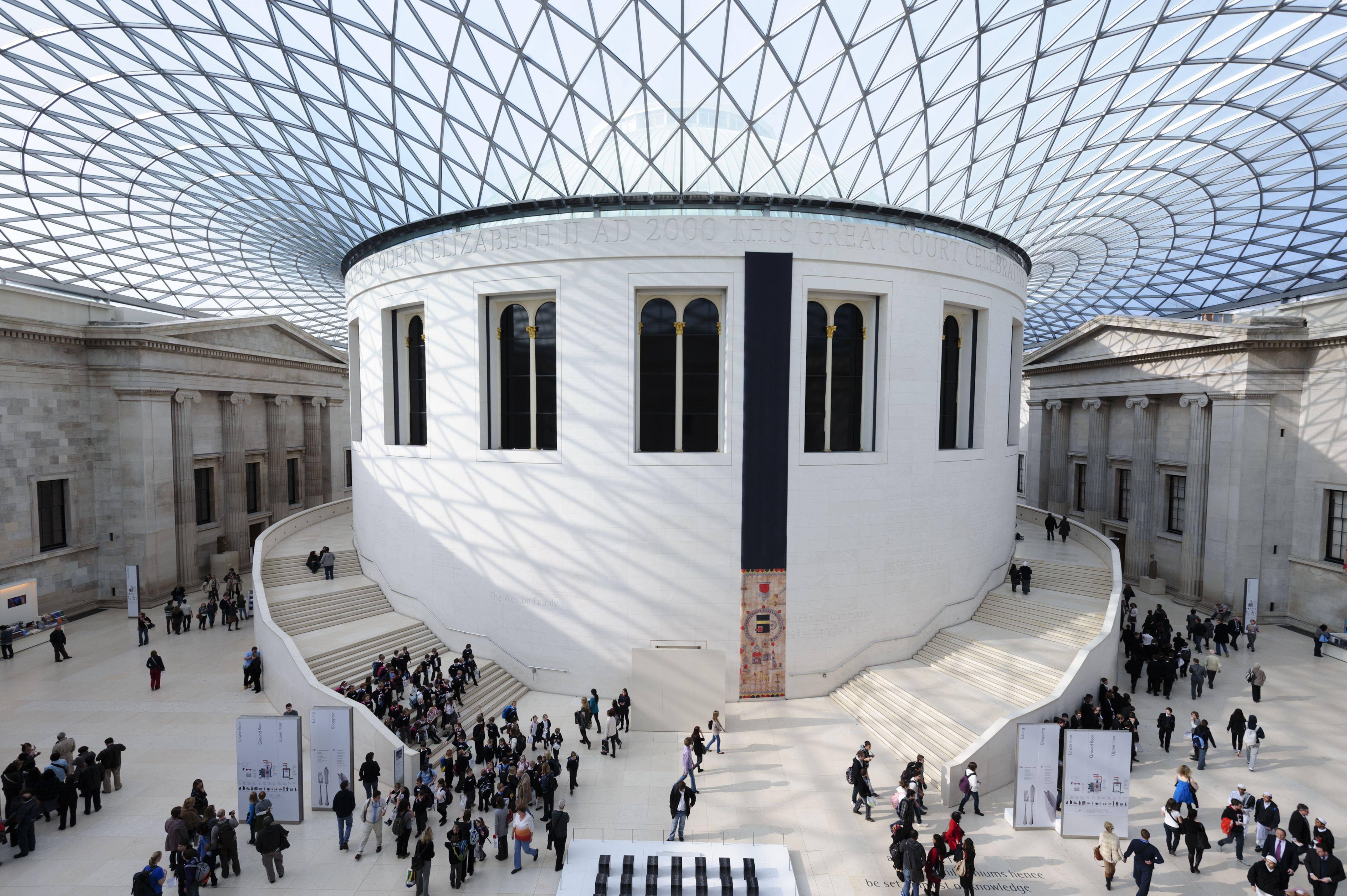 Great Court, British Museum, Bloomsbury, London, England, United Kingdom, Europe