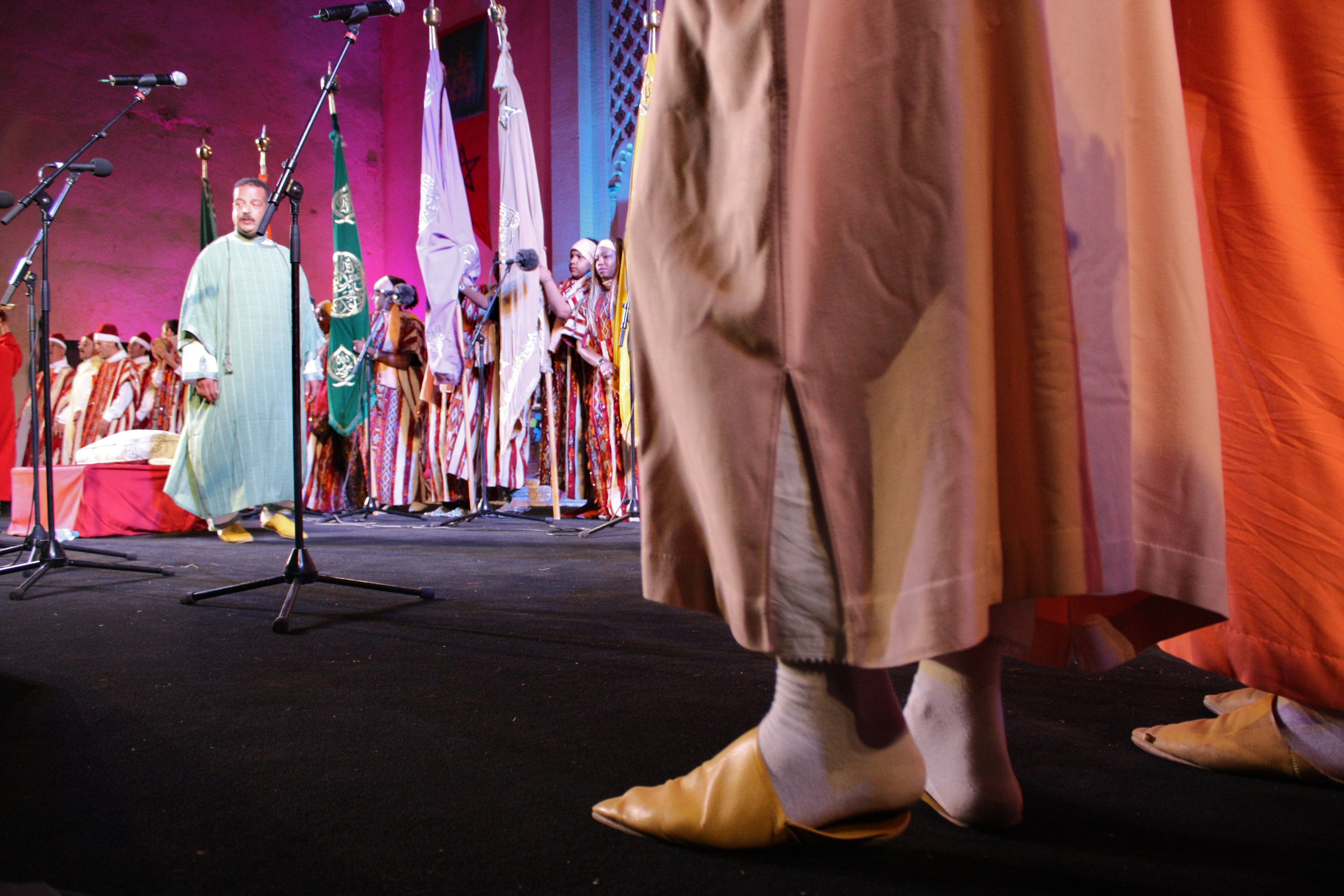 Musicians on stage at Fez Festival of World Sacred Music, Morocco