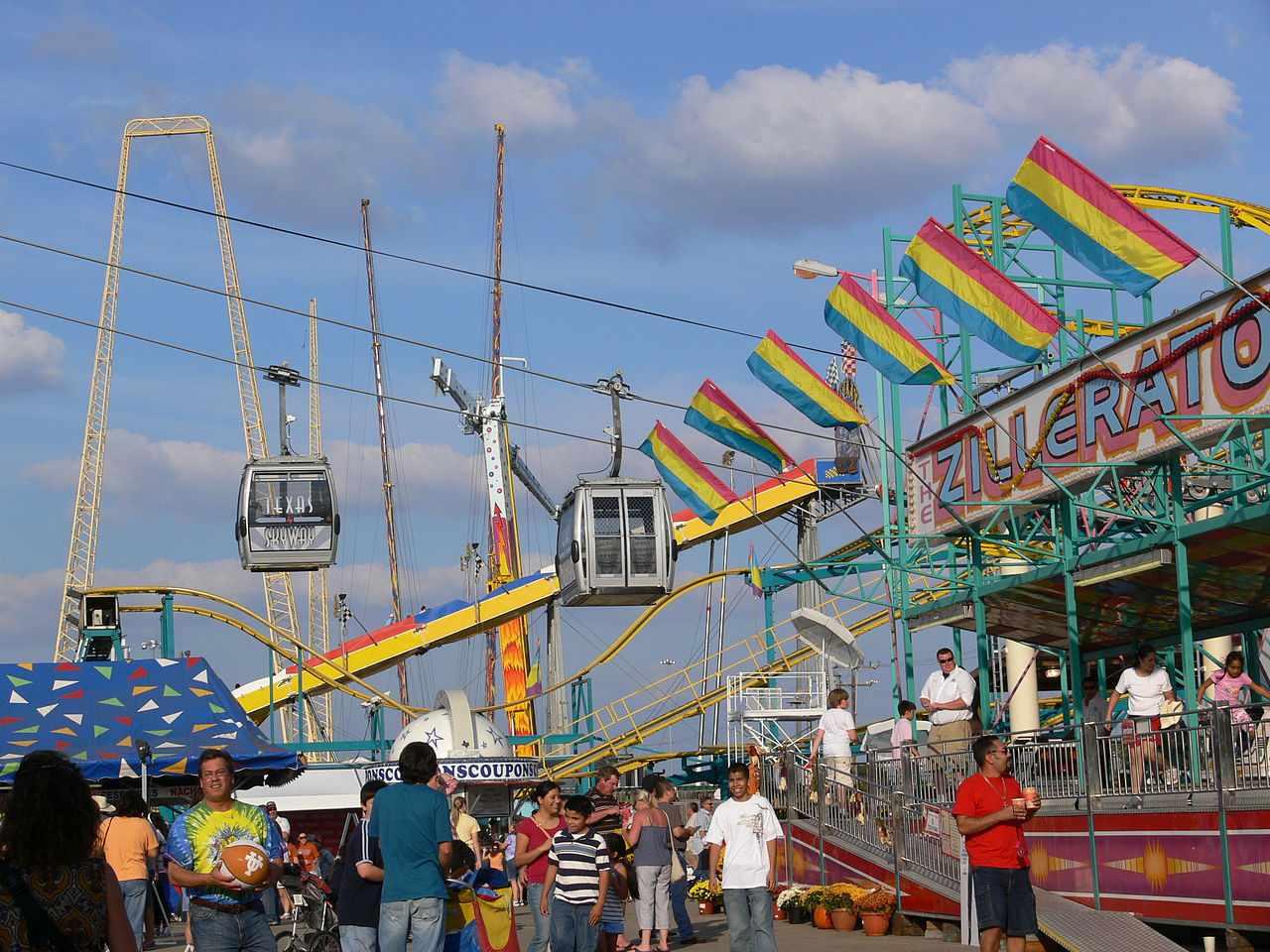 Rides at the Texas State Fair.