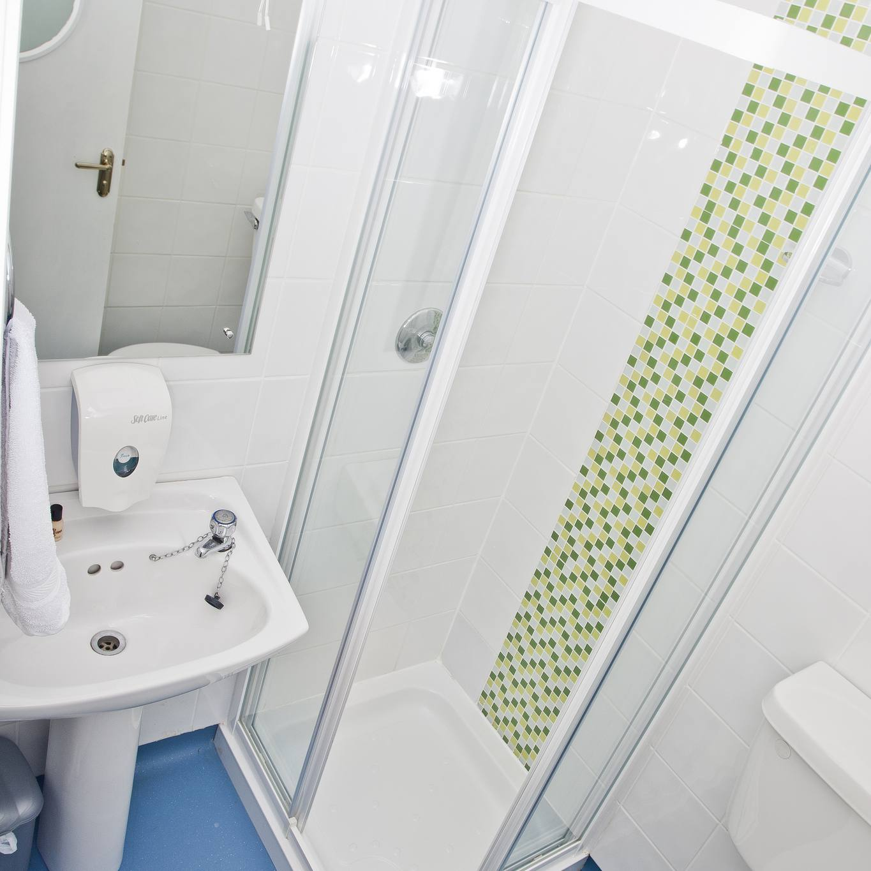 Inside Barnacles Budget Accommodation hostel bathroom