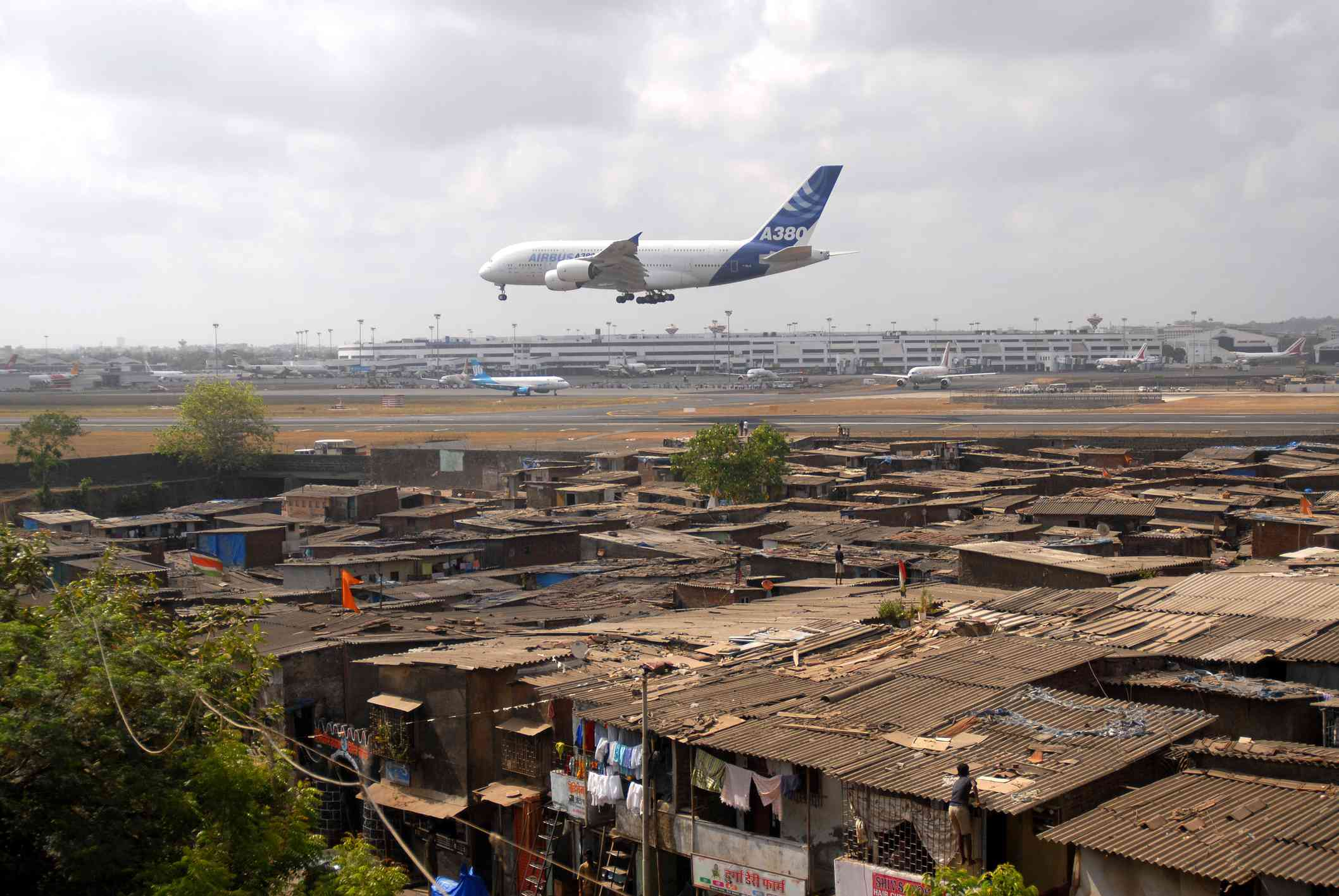 Largest commercial airline Airbus A380 lands at Chhatrapati Shivaji International Airport in Mumbai