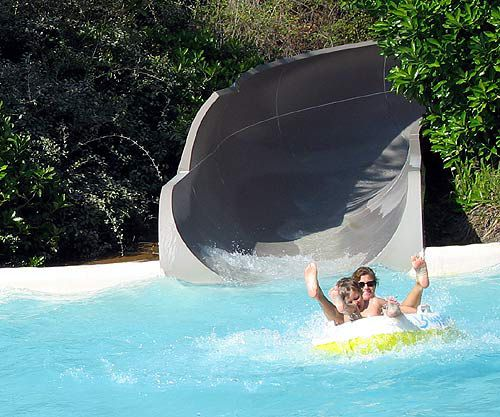 Runoff Rapids offers two winding tube slide rides.