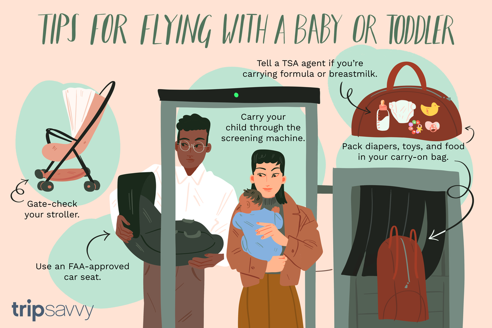 Tips for flying with a baby or toddler