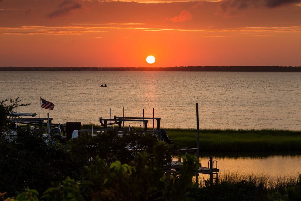 Sunset on Bogue Sound Emerald Isle North Carolina