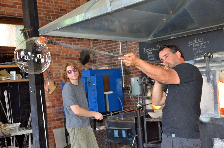 Glassblowing in Burlington VT at AO Glass