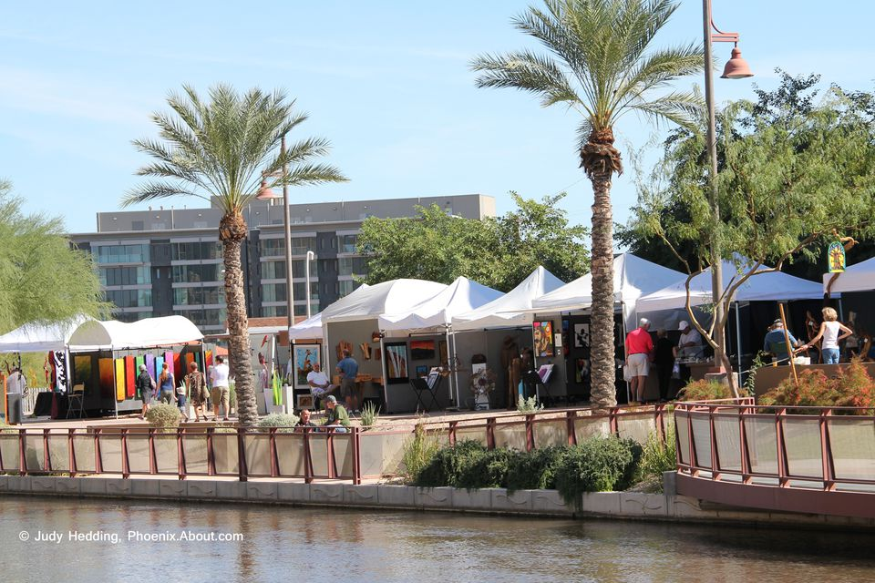 Scottsdale Art and Wine Festival, original art at the Scottsdale Waterfront.