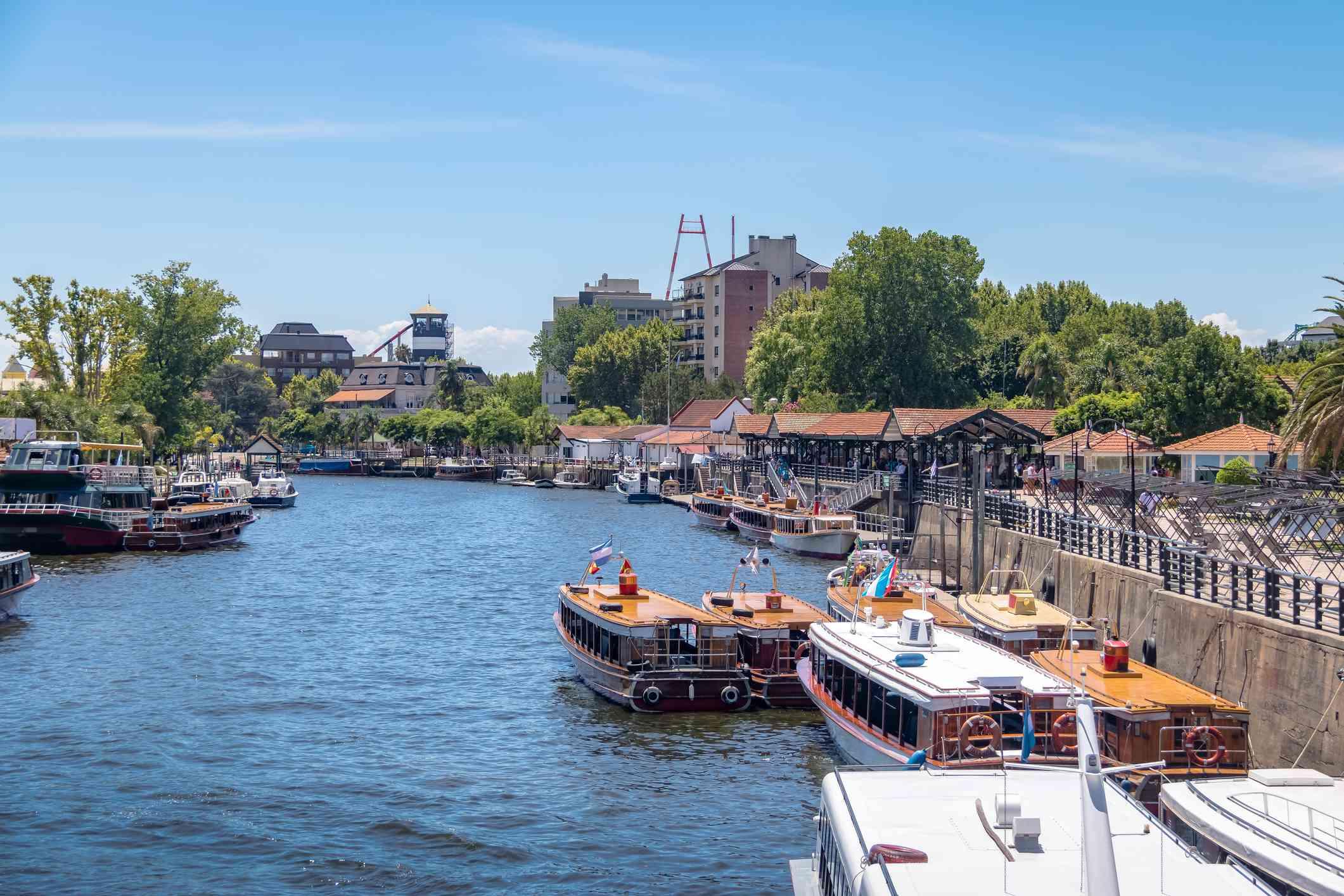 Boats at Tigre River - Tigre, Buenos Aires, Argentina