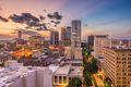 Birmingham, Alabama, USA downtown cityscape at dusk.