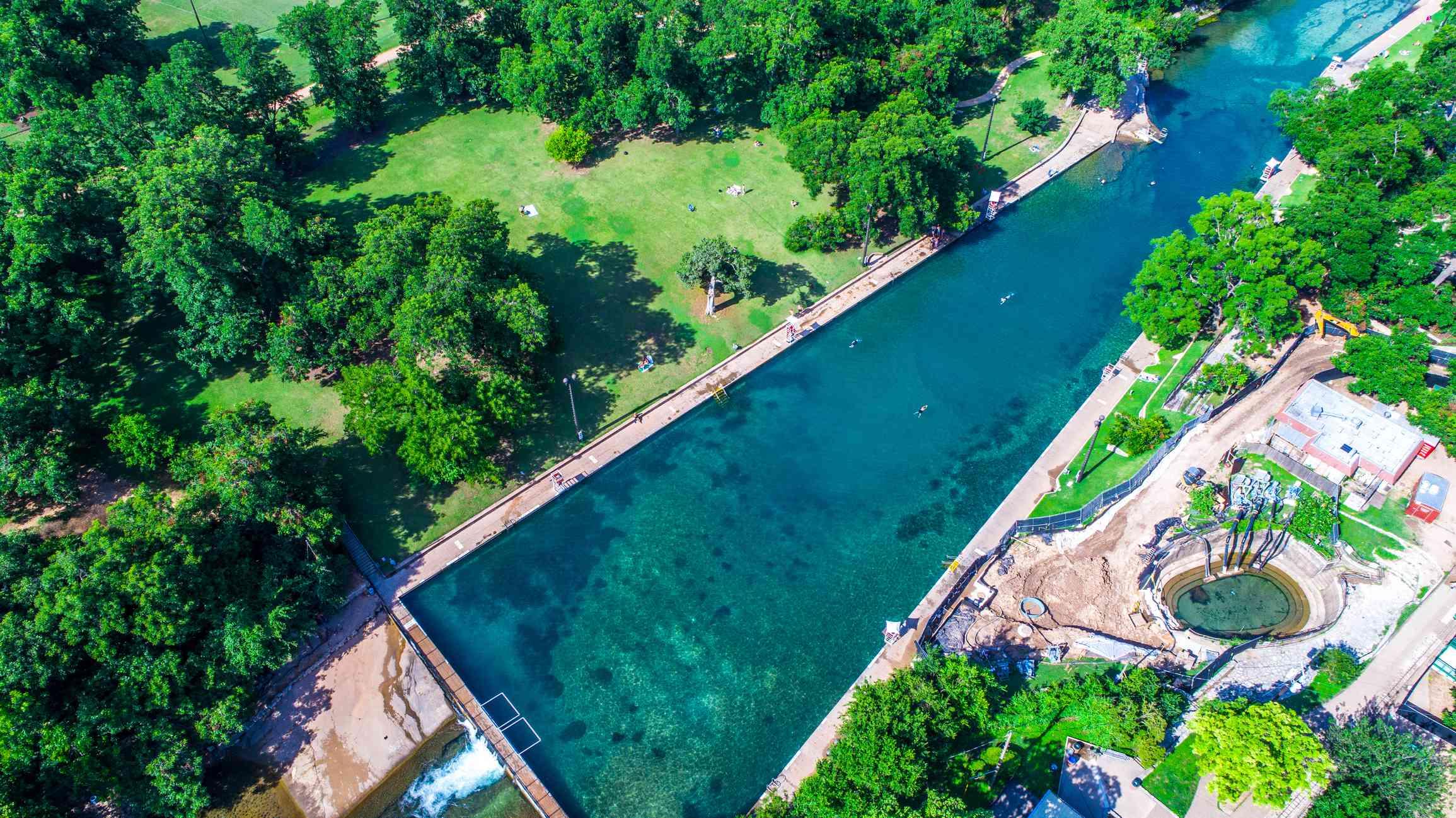 Barton Springs Swimming Hole in Austin, Texas