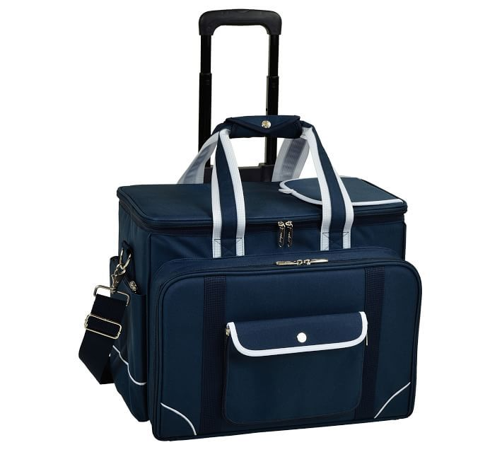Everly Rolling Picnic Cooler, Set for 4