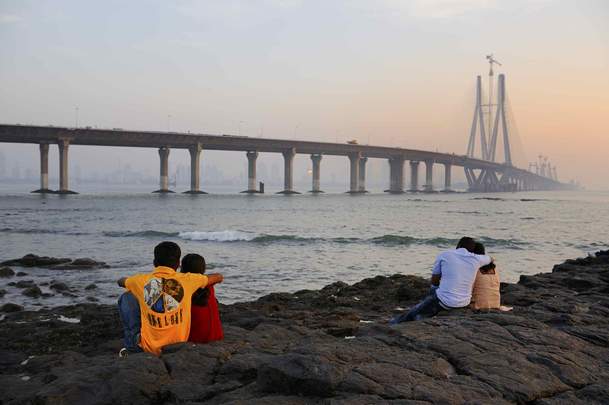 Worli Seaface and the Sealink.