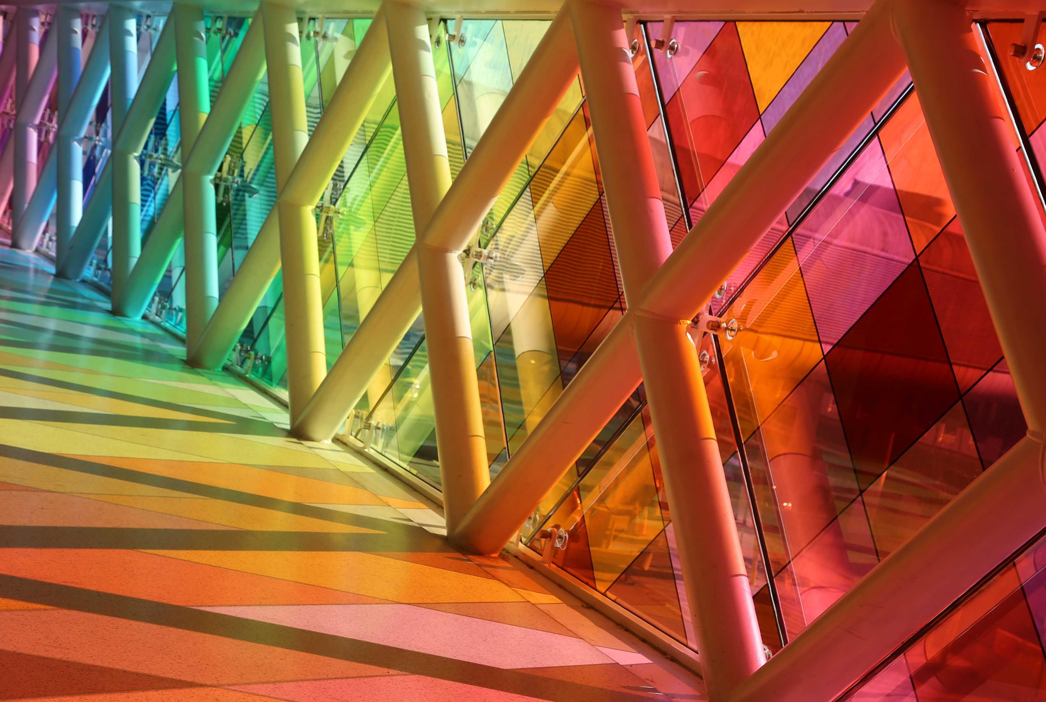 Rainbow pathway at MIA