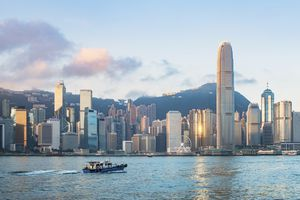 View of Victoria Harbour at morning