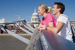 Couple on Millennium Bridge