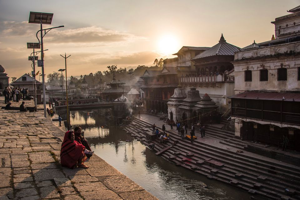 Pashupatinath during a sunset