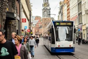 Tram on Reguliersbreestraat, Amsterdam