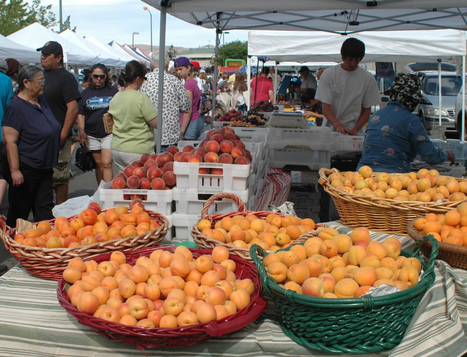 Farmers markets in Reno and Sparks, Nevada, and at Lake Tahoe.