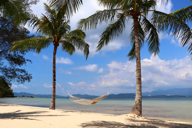 Police Beach at Gaya Island