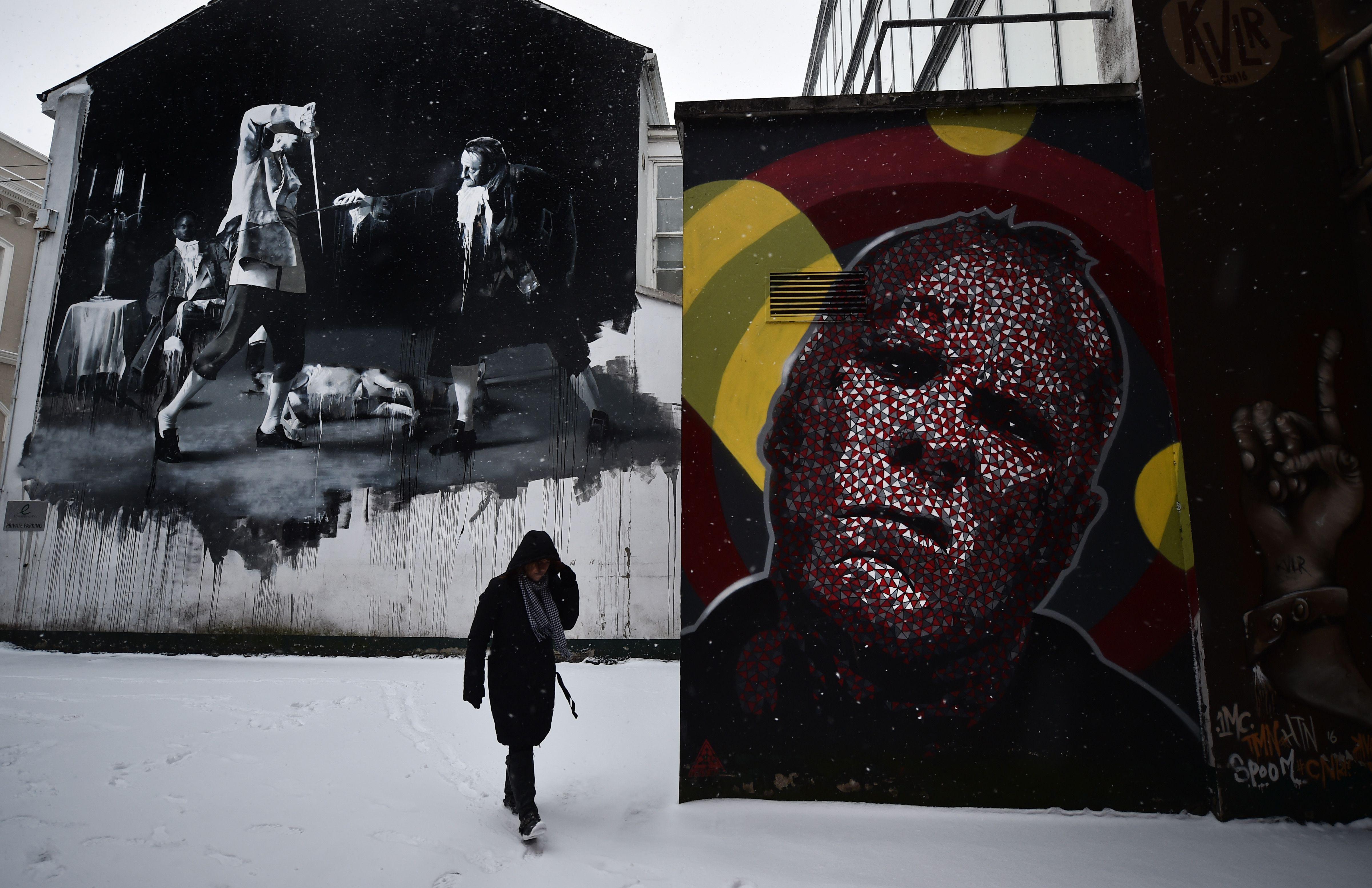 Mural de Conor Harrington en Belfast