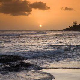 Sunset over Treasure Beach, Jamaica