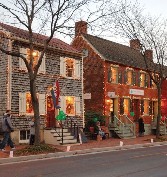 Christmas decorations in Frederick, Maryland