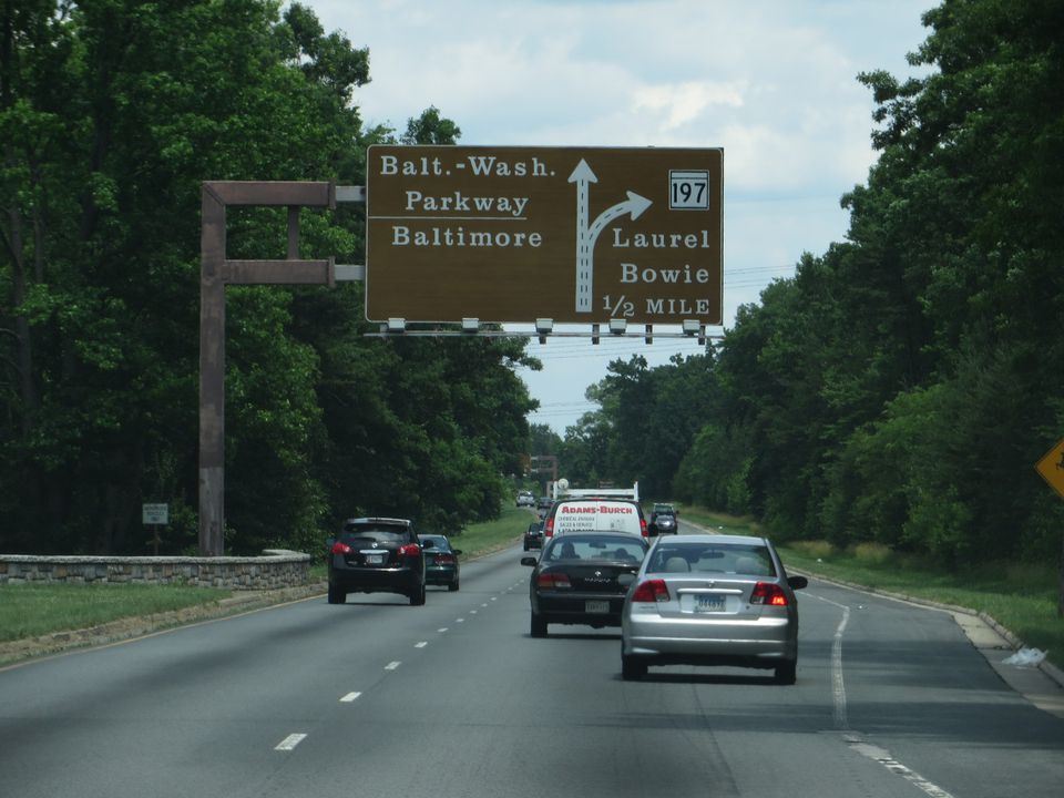 Baltimore–Washington Parkway, Laurel, Maryland