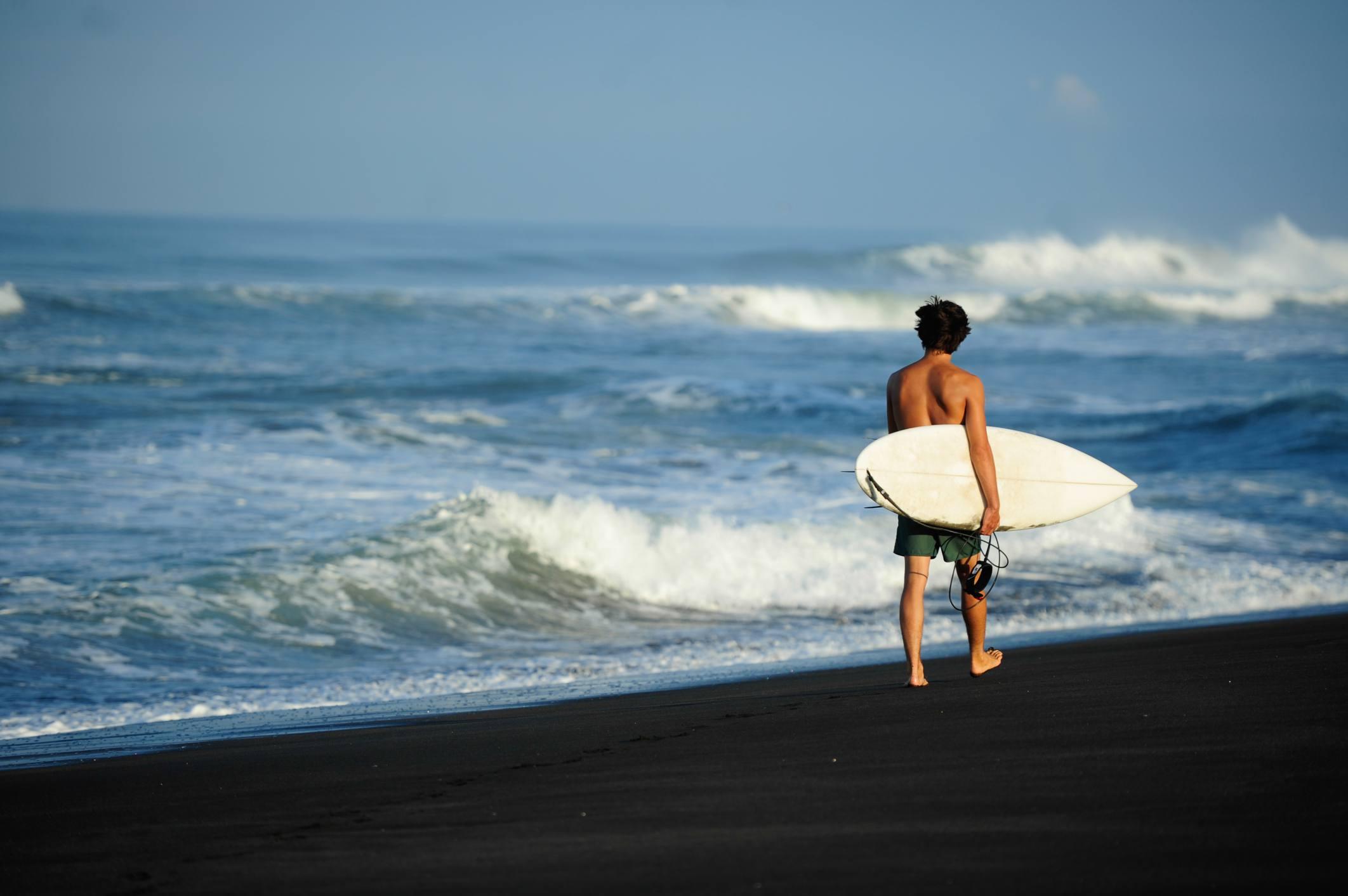 Surfer at Boca de Pascuales, Colima