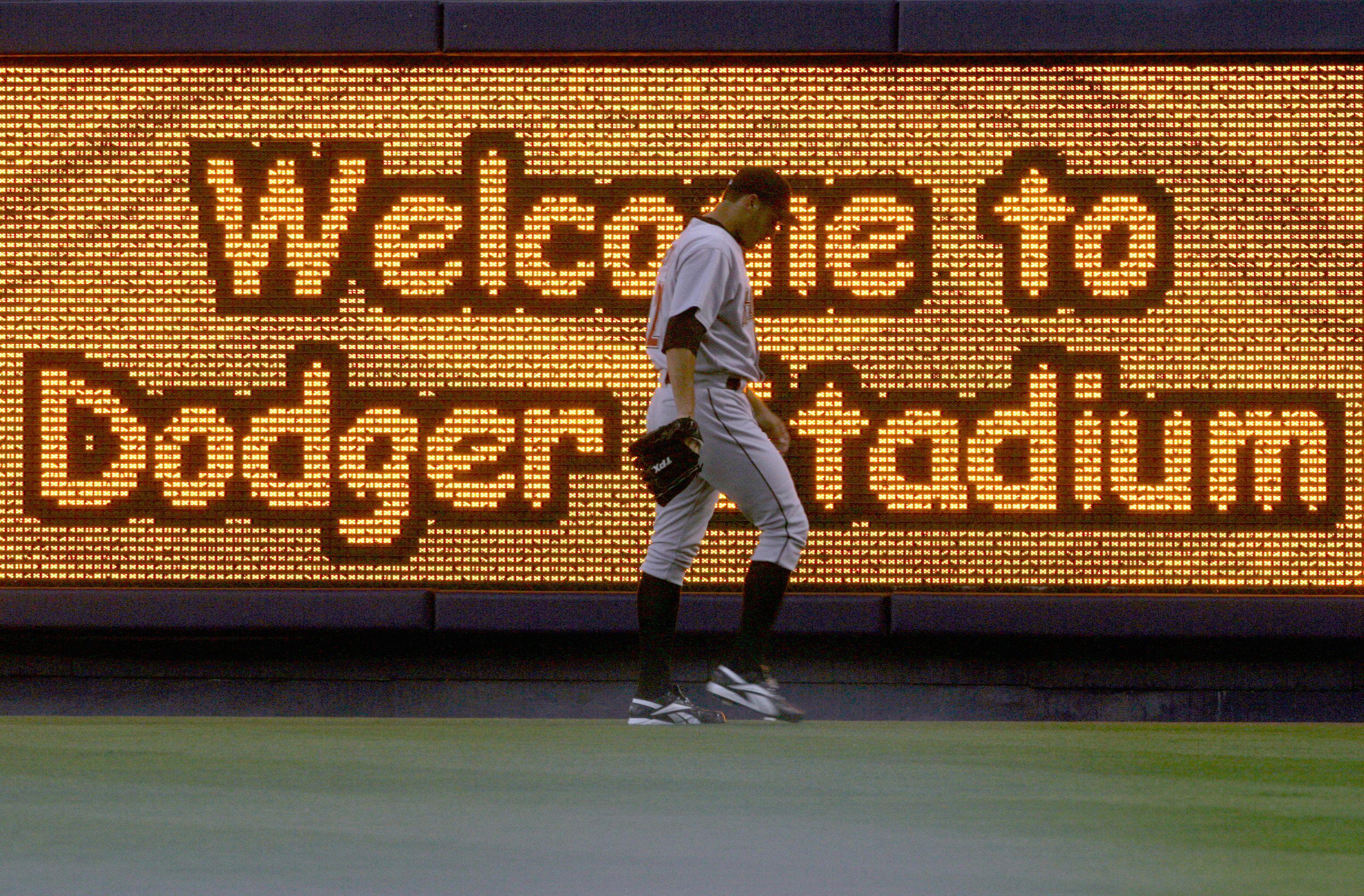 The Ribbon Board at Dodger Stadium