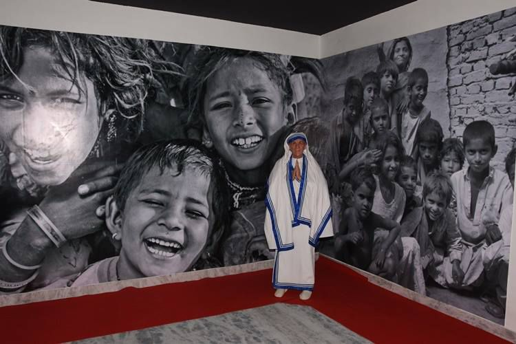 Mother Teresa at Udaipur Wax Museum.