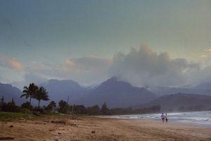 Walk on the beach in Kauai, Hawaii
