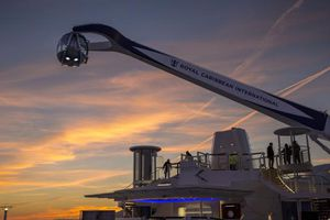 Quantum of the Seas North Star at sunset