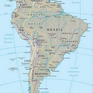 South America Cruise Map