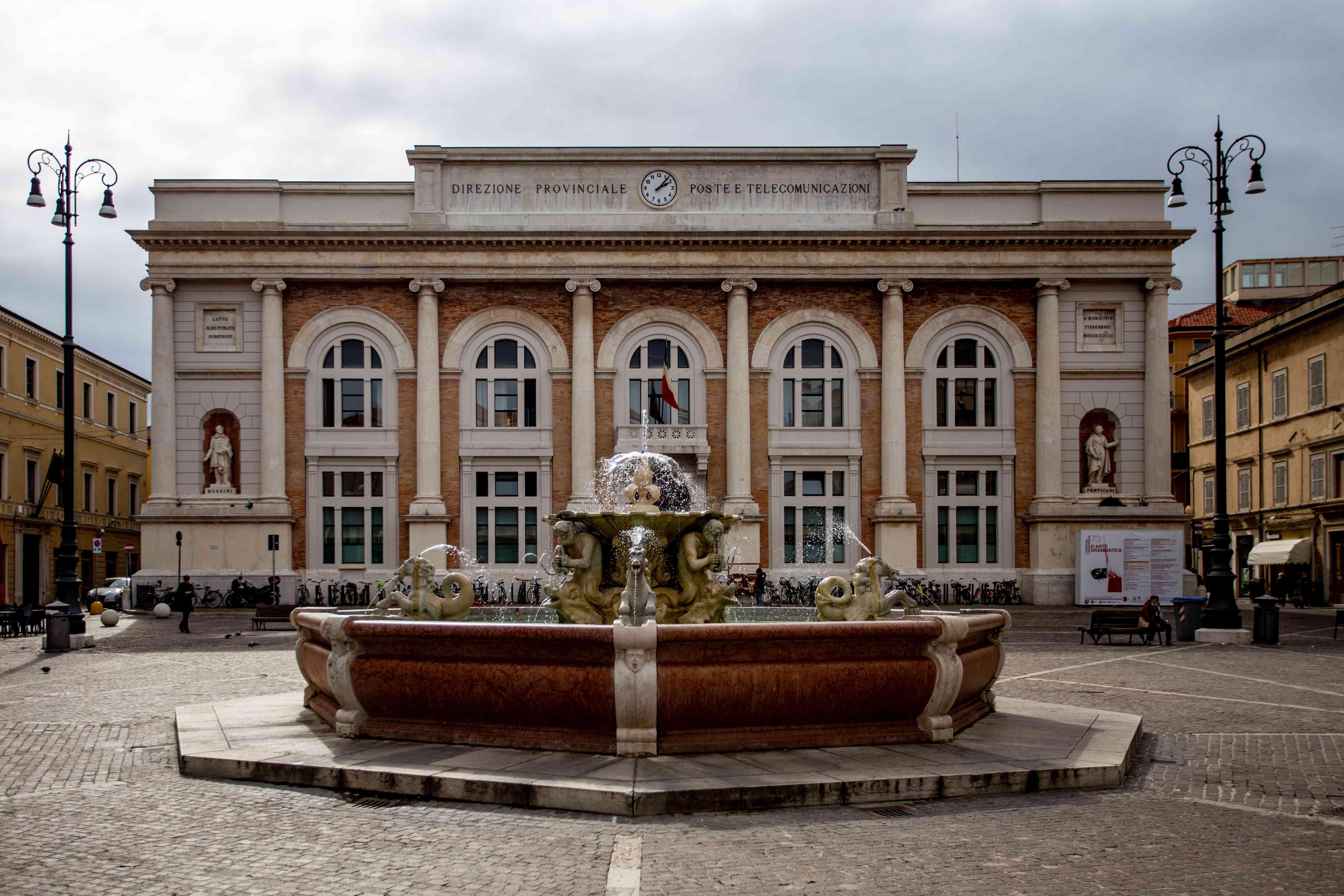 Piazza del Popolo in Pesaro, Italy