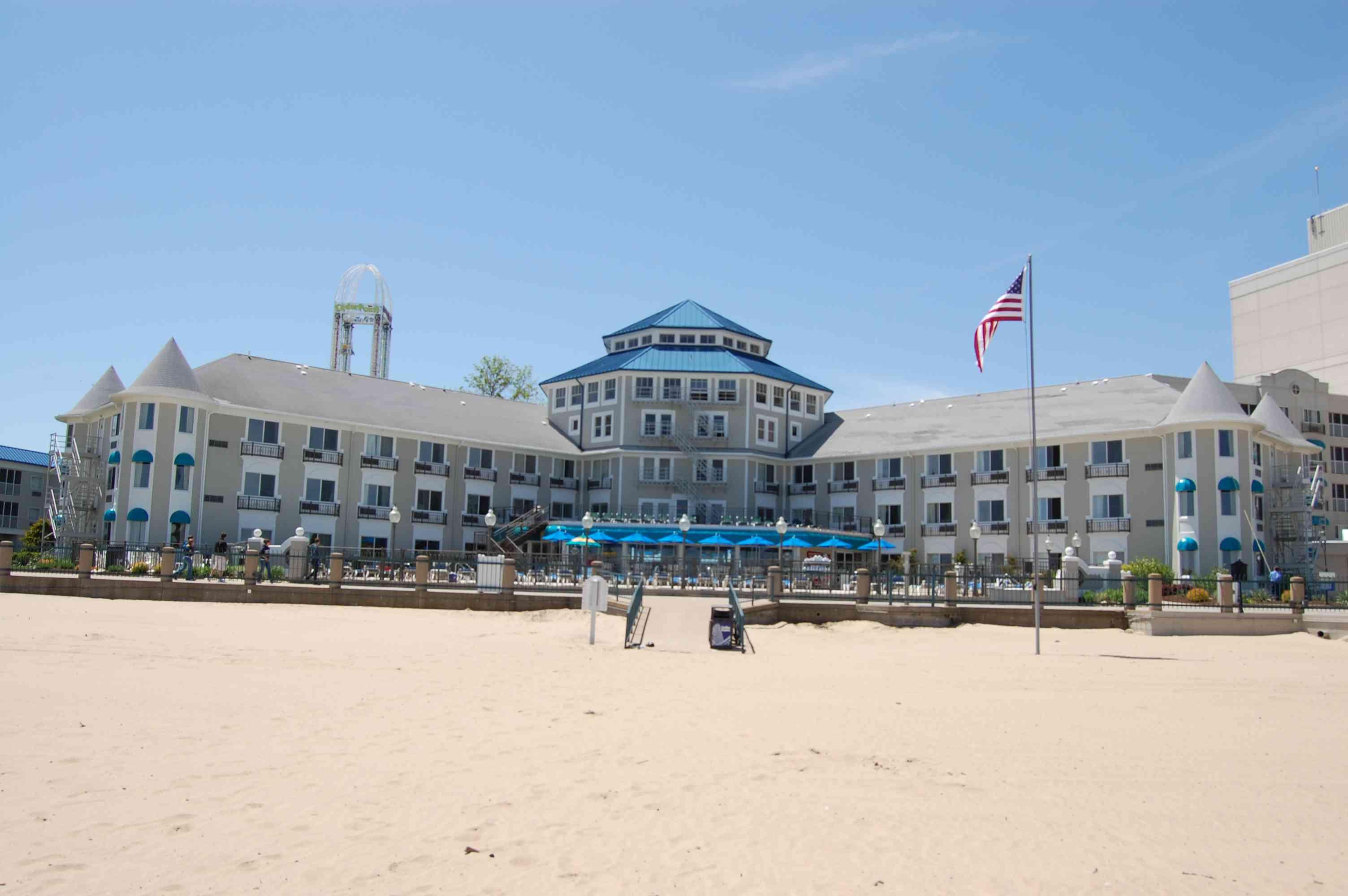 Cedar Point Hotel Breakers from the beach