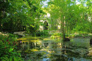 Leonardo da Vinci's garden at Clos-Luce, Loire Valley