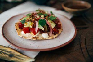 A dish at Reyes Mezcaleria