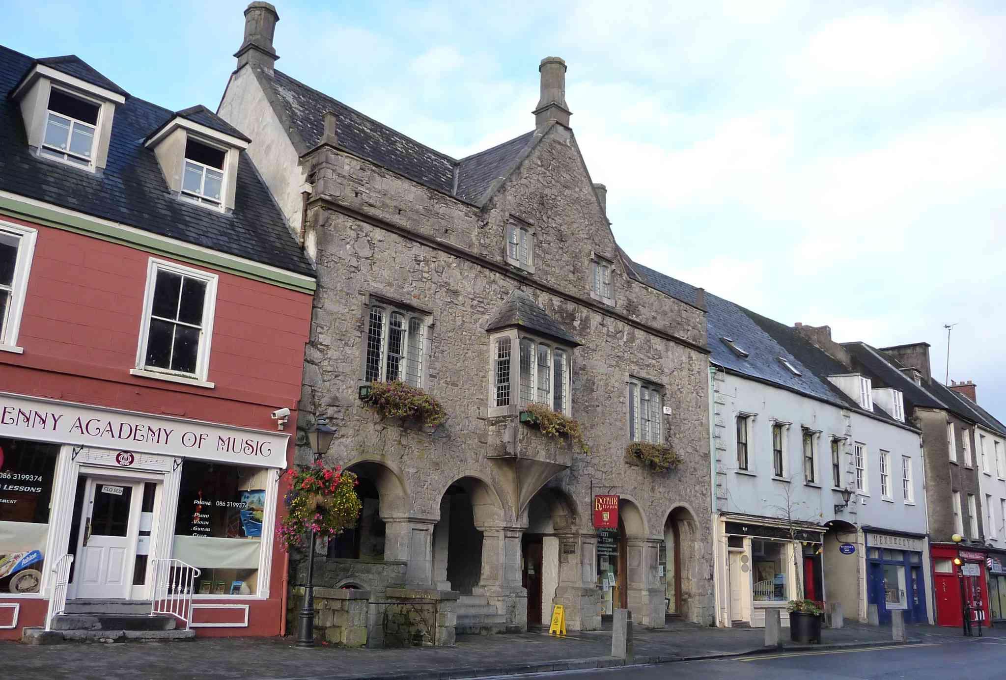 medieval house on Irish village street