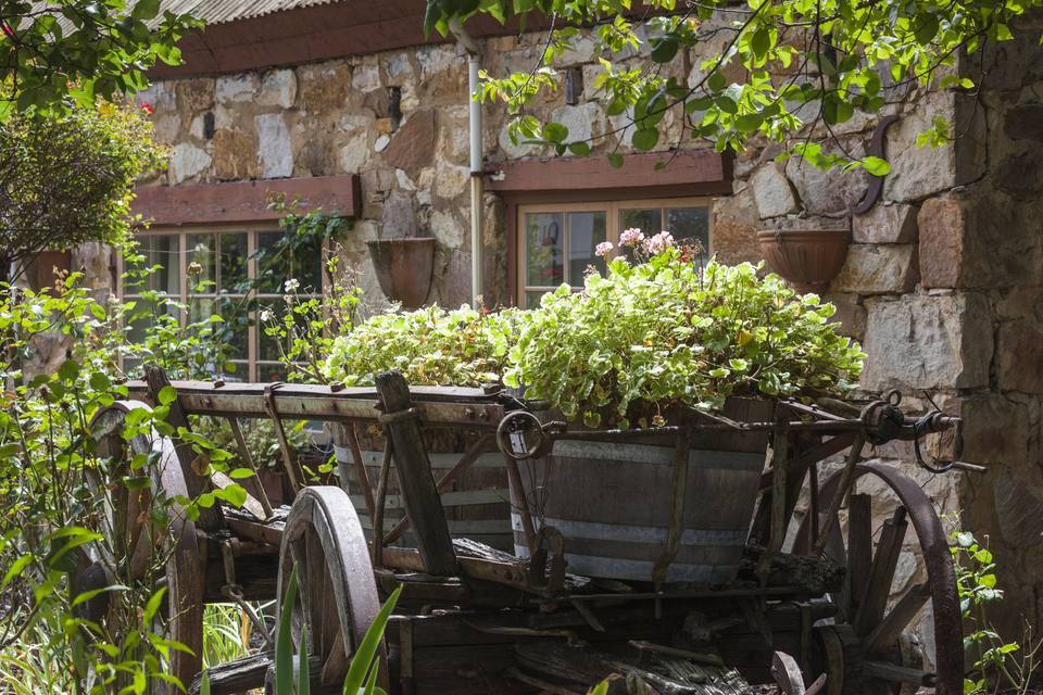German-themed village, old winery wagon, Hahndorf, Adelaide Hills, Australia