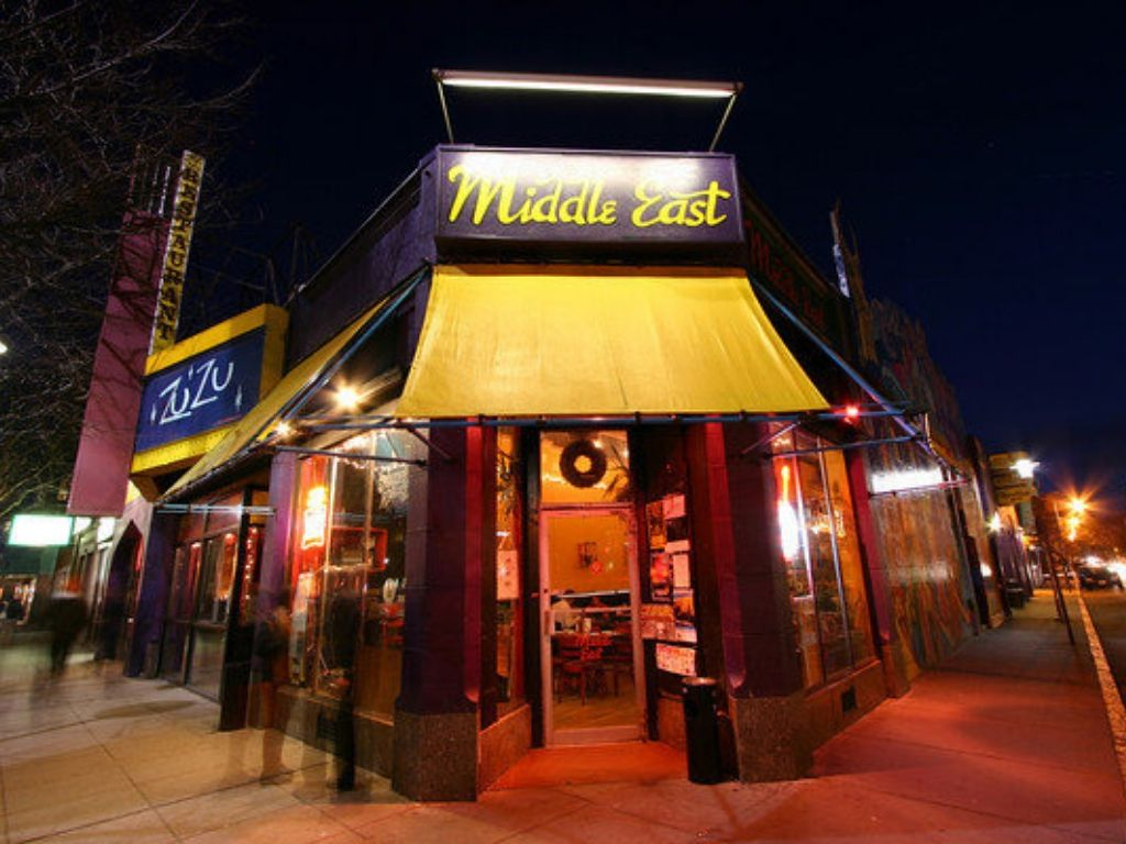 Exterior of the Middle East Restaurant and Nightclub