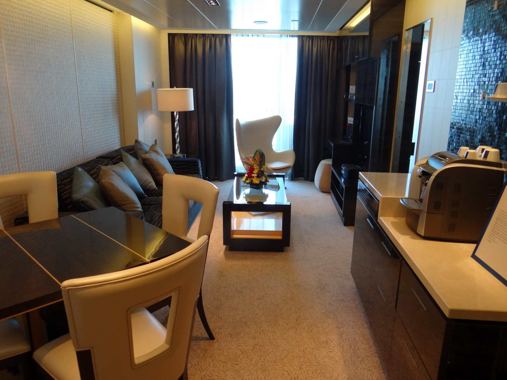 Owner's Suite Sitting Area at The Haven of the Norwegian Getaway
