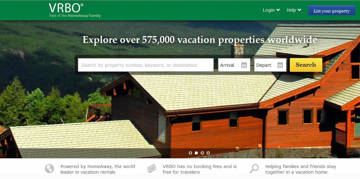 VRBO.com is short for vacation rental by owner.