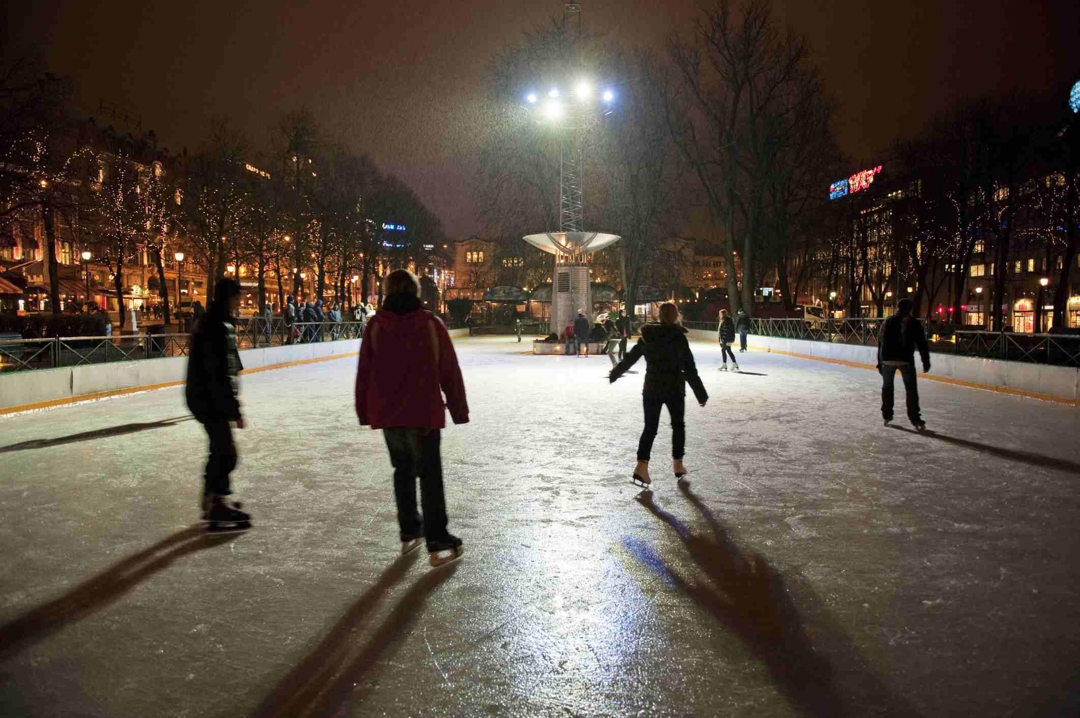Ice Skating, Oslo, Norway
