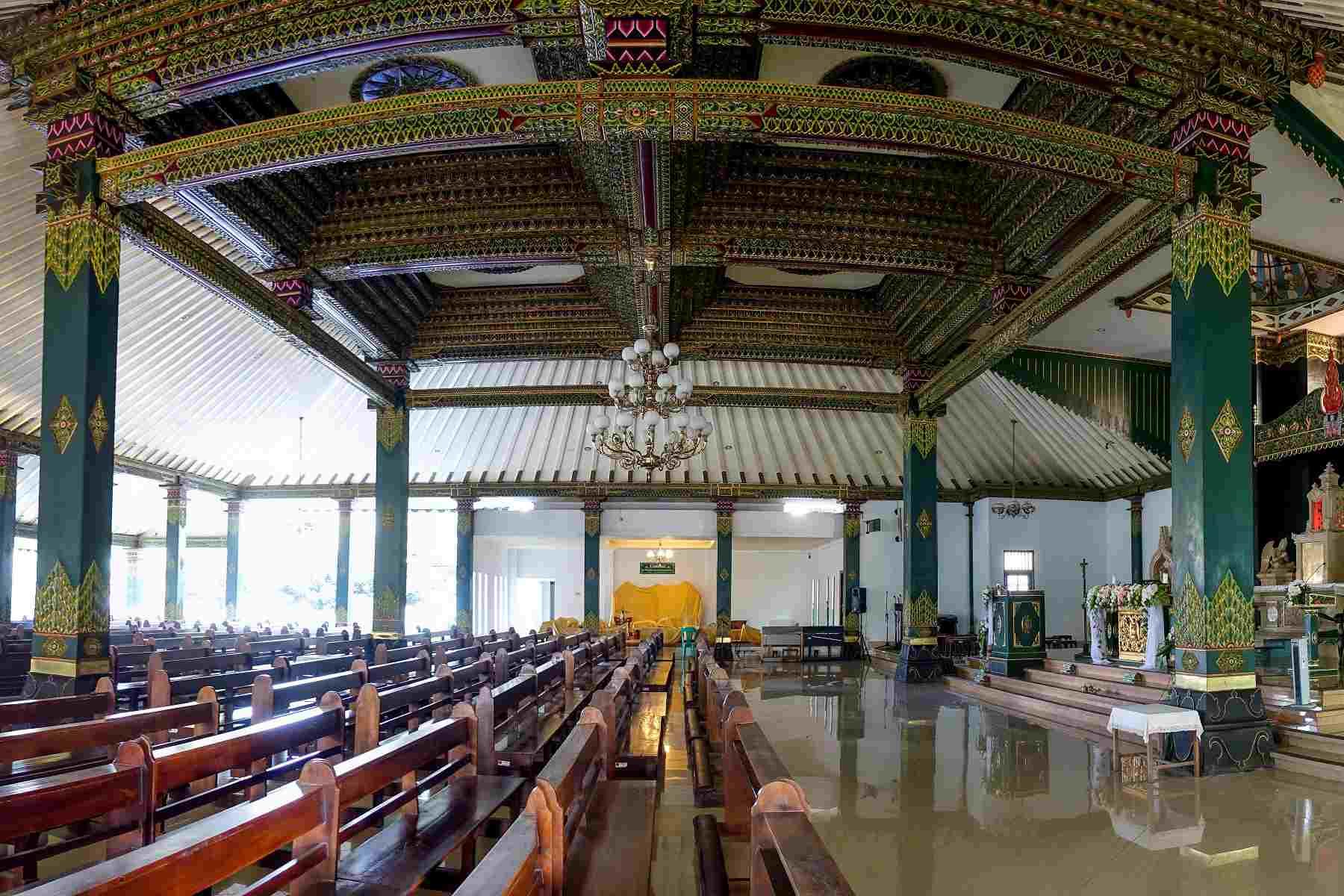 Ganjuran Church interior, Yogyakarta