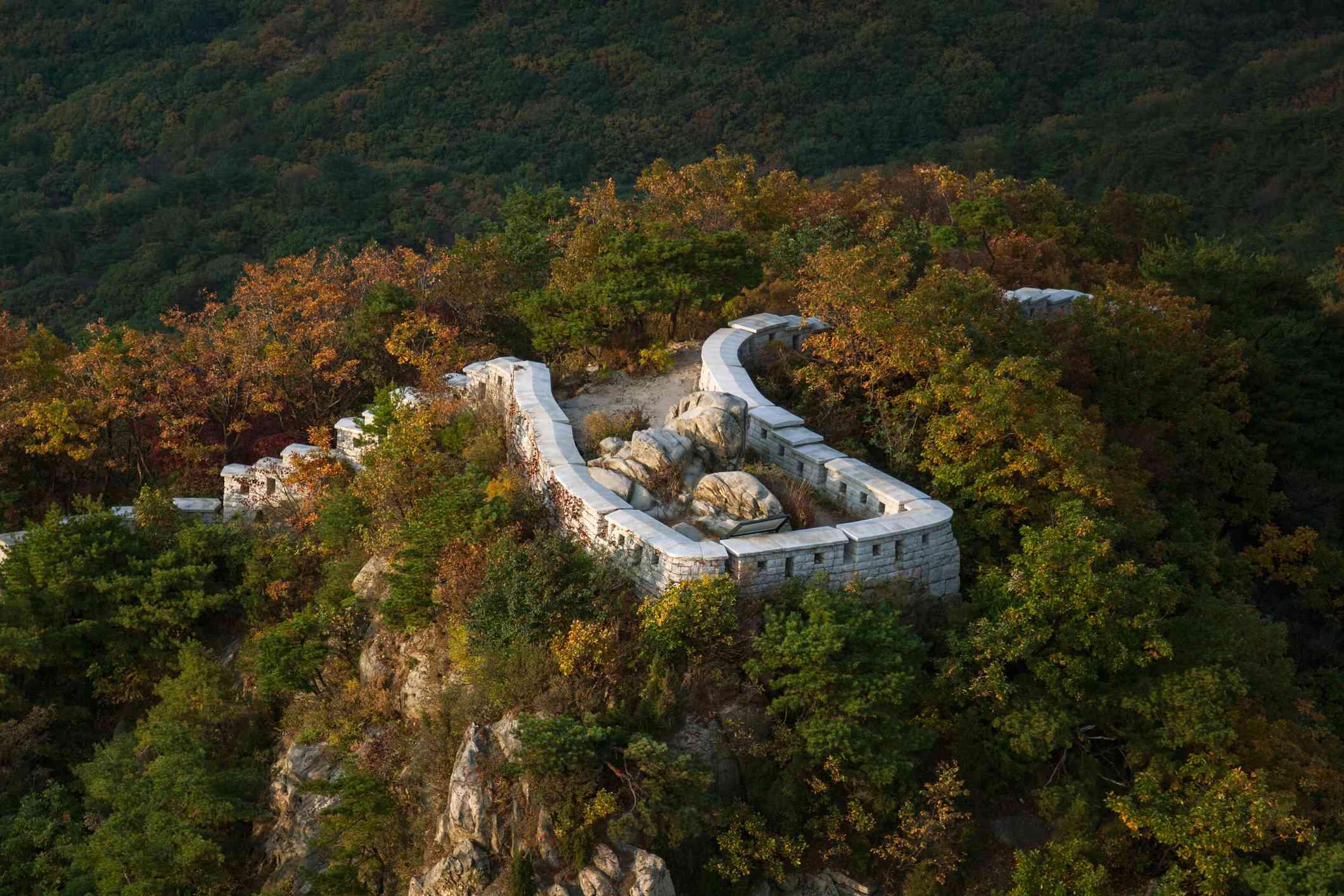 Bukhansanseong Fortress in Bukhansan national park