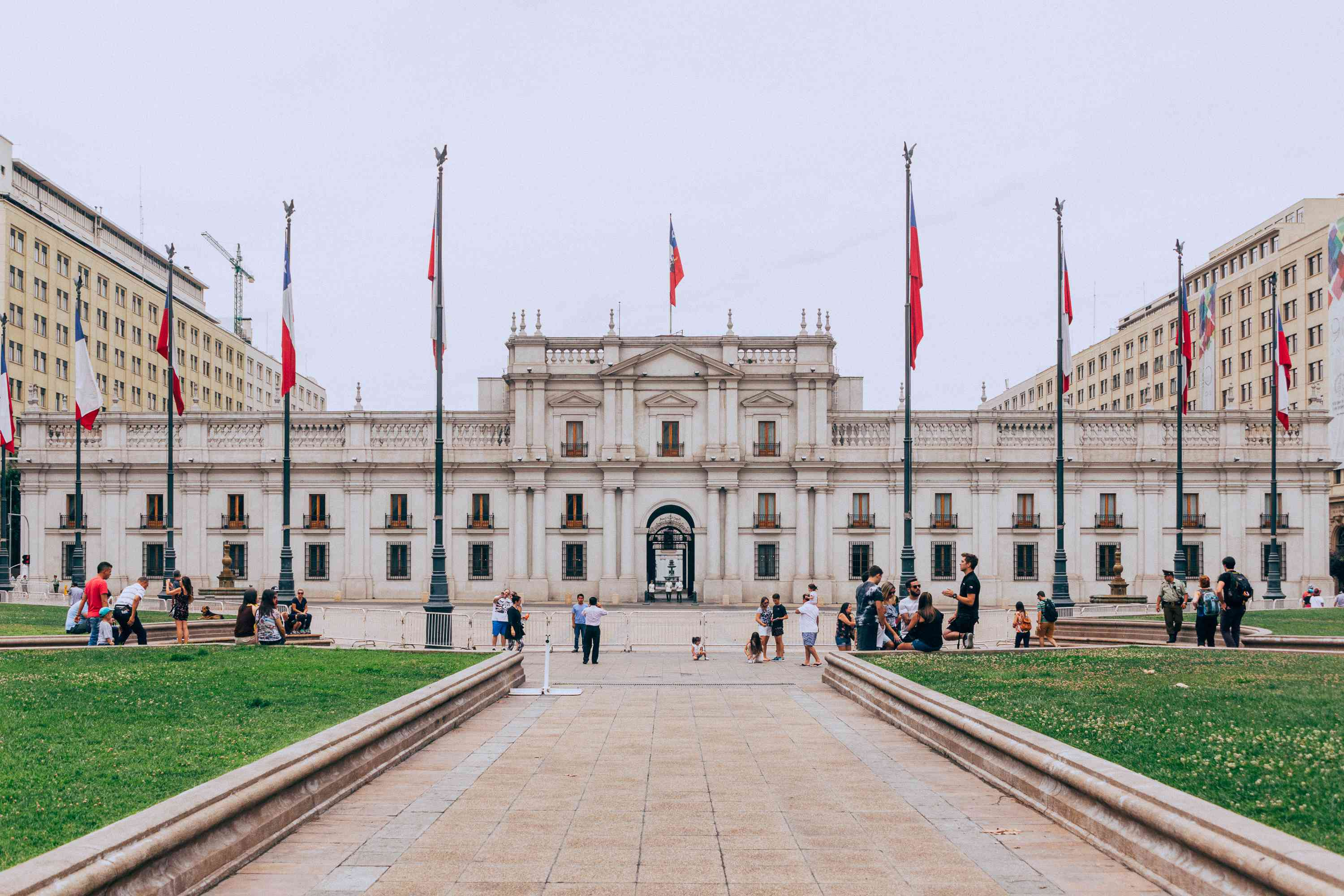 People standing outside the Palace