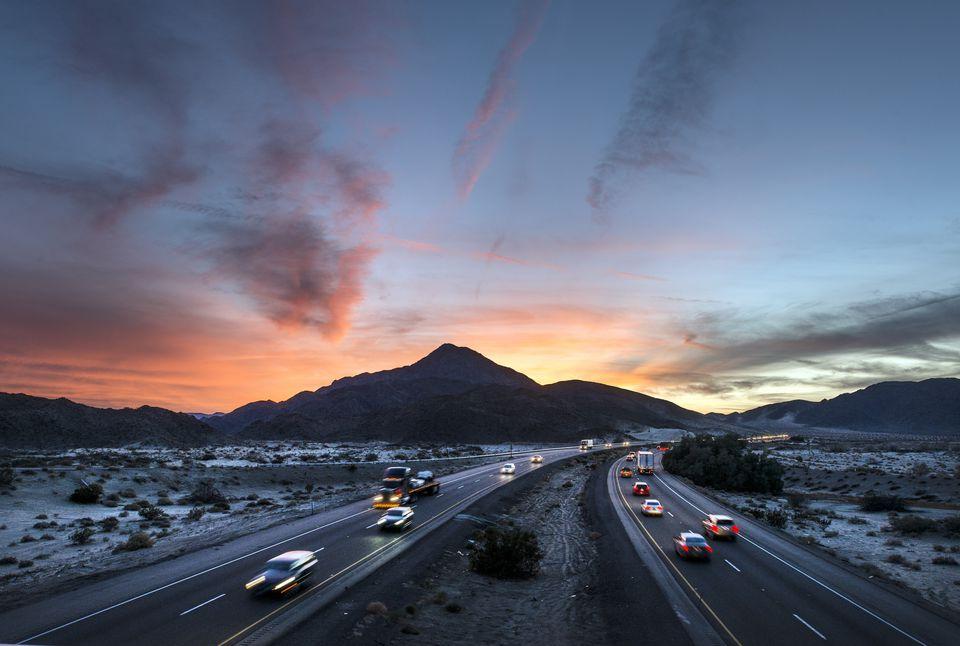 Sunset over I-15