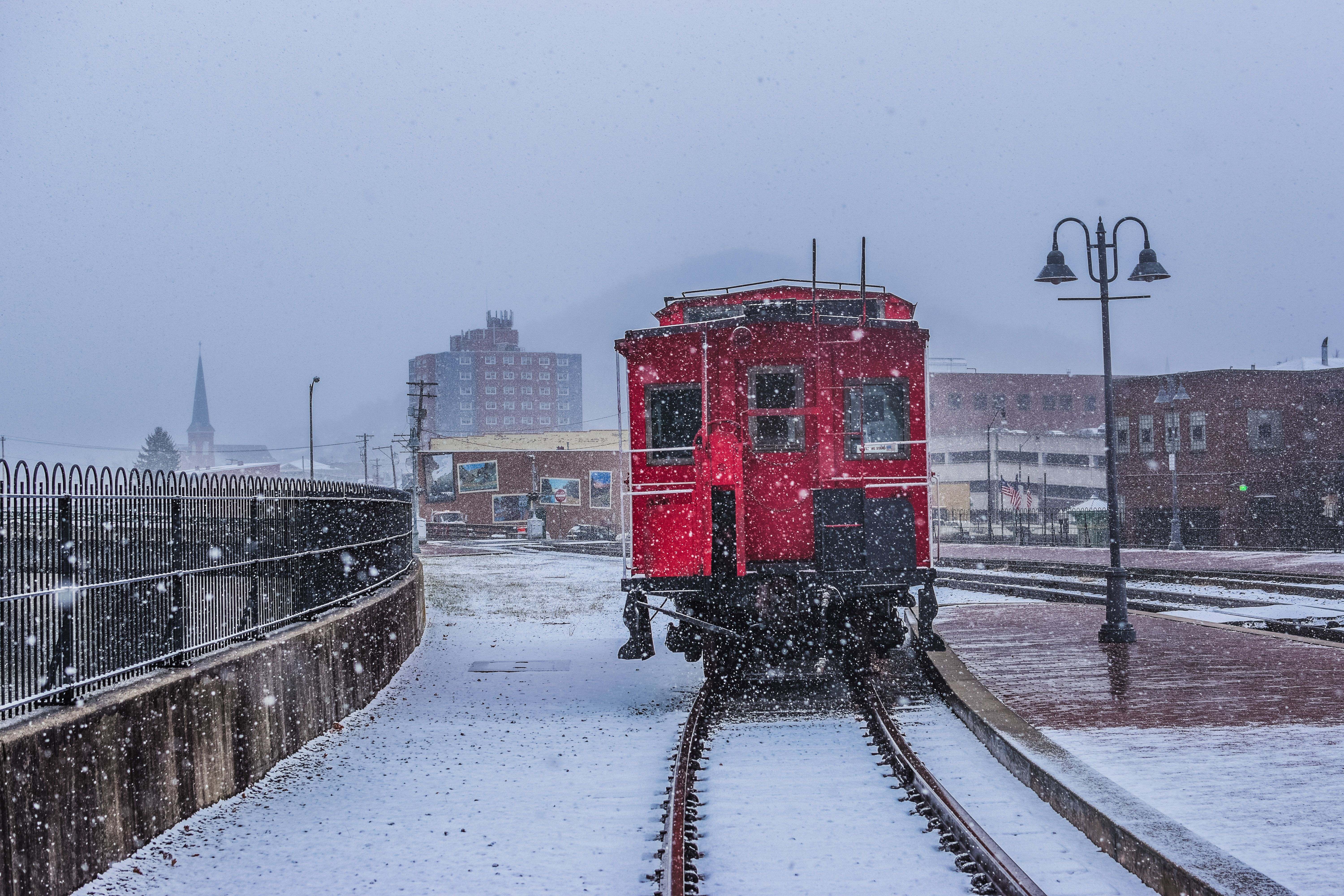 Murder Mystery Train in the snow